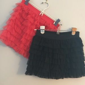 Girls ruffled skirts